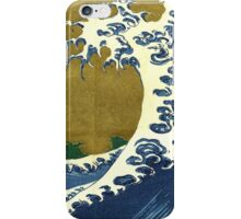Japanese surf wave iPhone Case/Skin