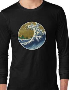 Japanese surf wave Long Sleeve T-Shirt