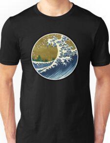 Japanese surf wave Unisex T-Shirt