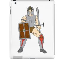 Knight Wielding Sword and Shield Cartoon iPad Case/Skin