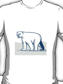 Polar Bear Isolated Cartoon T-Shirt