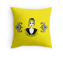 The Opium lady Throw Pillow