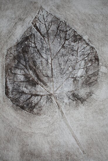Collograph: Veins and Leaves by Marion Chapman