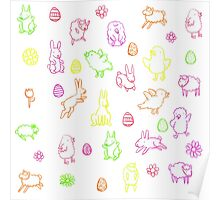Easter pattern Poster