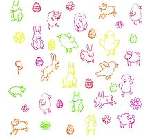 Easter pattern Photographic Print