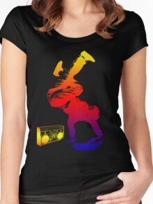 bboy colored Women's Fitted Scoop T-Shirt