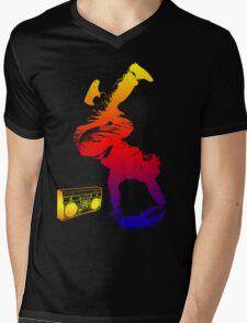 bboy colored Mens V-Neck T-Shirt
