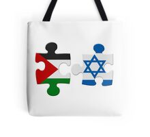 Israel and Palestine Conflict Flag Puzzle Tote Bag