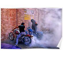 """Smokin' The Harleys"" Poster"