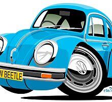 VW Beetle blue by car2oonz