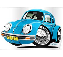 VW Beetle blue Poster