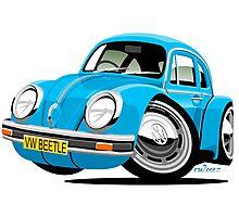 VW Beetle blue Photographic Print