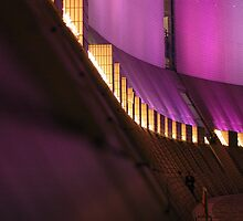 Purple Abstract Hong Kong Cultural Centre by Kevin Leung