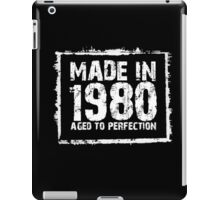Made In 1980 Aged To Perfection - TShirts & Hoodies iPad Case/Skin