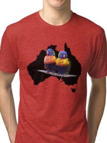 Rainbow Lorikeets Tri-blend T-Shirt