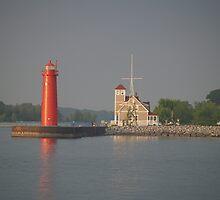 Muskegon, Michigan Coast Guard Station by BarbL