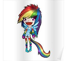 Chibi Rainbow Dash Original Design Poster