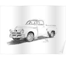 1953-56 FJ Holden Ute Poster