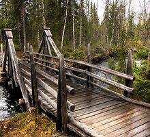 Wooden bridge by Sandra Kemppainen