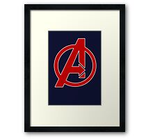 Avengers - Logo - Red Framed Print