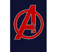 Avengers - Logo - Red Photographic Print