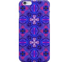Blue pink purpel checked flowery plaid pattern iPhone Case/Skin