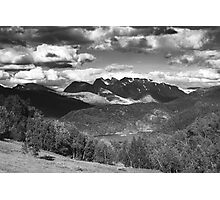 Norway landscape, black and white Photographic Print