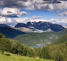 Norway landscape mountains by Sandra Kemppainen