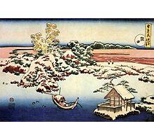 'Winter Landscape of Suda' by Katsushika Hokusai (Reproduction) Photographic Print