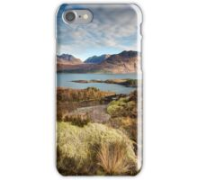 The mountains of Upper Loch Torridon iPhone Case/Skin