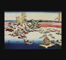'Winter Landscape of Suda' by Katsushika Hokusai (Reproduction) T-Shirt