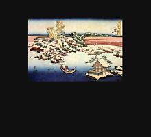 'Winter Landscape of Suda' by Katsushika Hokusai (Reproduction) Unisex T-Shirt