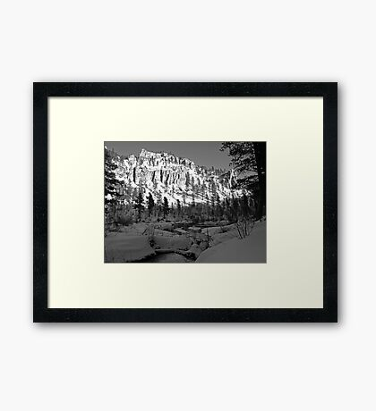 Spearfish Canyon Framed Print