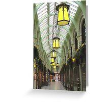Royal arcade in Norwich Greeting Card