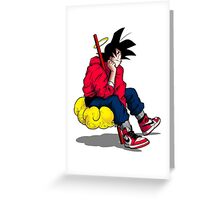 Saiyan Kicks Greeting Card