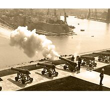 Cannon Firing - Grand Harbour, Valletta  Photographic Print
