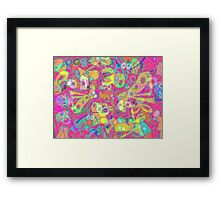 pink cheese delirium Framed Print