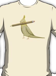 Cockatiel & Pencil T-Shirt