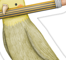 Cockatiel & Pencil Sticker