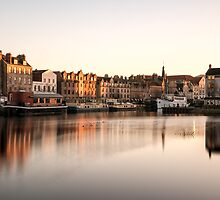 Long Exposure Sunset: The Shore, Edinburgh by Miles Gray