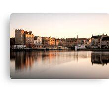 Long Exposure Sunset: The Shore, Edinburgh Canvas Print