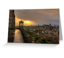 Stormy Sunset from Calton Hill, Edinburgh Greeting Card