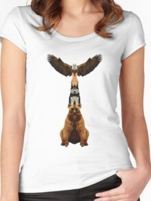 Wild Totem Women's Fitted Scoop T-Shirt