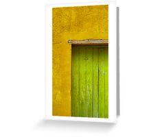 Puerta Verde Greeting Card