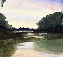 Lake Reflections by Sandi Redding