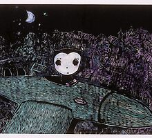 Night Airplane by Ayu Tomikawa