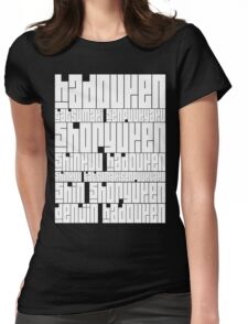 Techniques - Ryu Black Womens Fitted T-Shirt