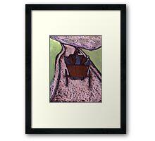 Runaway Horse and Cart Framed Print