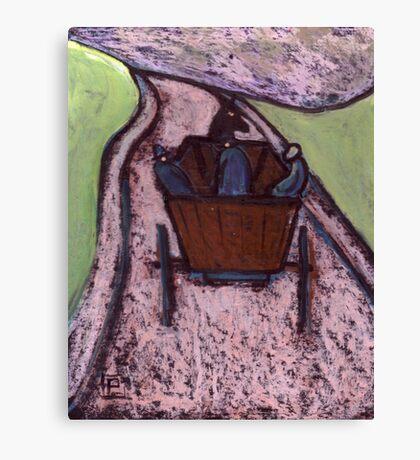 Runaway Horse and Cart Canvas Print