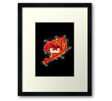 Fire Natsu Framed Print